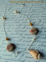Sea Shell Necklace by Forbiddenynforgotten