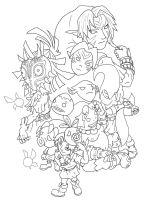 Link's Army Lineart by FiercerDeity