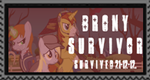 21-12-2012 BRONY SURVIVOR STAMP. by djjafeth