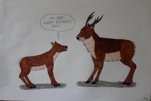 Father's Deer Card by Dracorum-Order