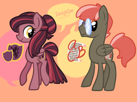 MLP OCs - Fair Century and Phil Grammar by Looji
