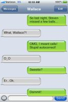 Wallace's Autocorrect Fail! by Rose3212