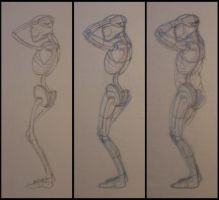 Anatomical Figure Study by Inaaca