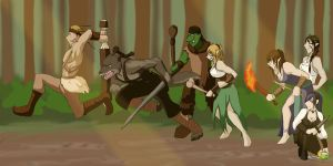 Attack in the woods by keeper-of-vilya