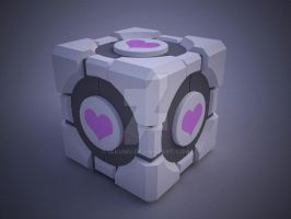 I love my Companion Cube by iAkumu