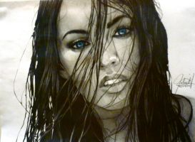 Megan Fox Portrait by ParaguayDraw