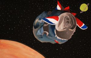 Pepsi Can in Space by Razur