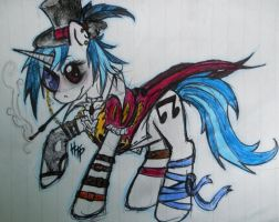 Steampunk Vinyl Scratch by HaterThePony