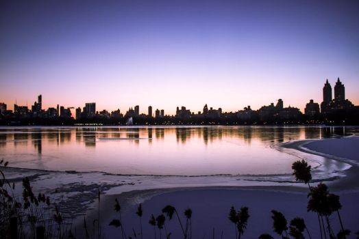 Central Park Sunset by Thoesoe