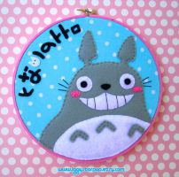 My Neighbor Totoro Embroidery by iggystarpup