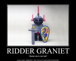 Papercraft LEGO BlackKnight minifig Ridder Graniet by ninjatoespapercraft