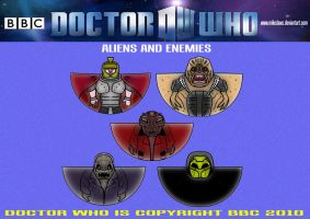 Doctor Who-Aliens and Enemies by mikedaws