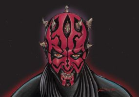 Darth Maul Acrylics by Cruuzetta