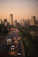 Sunset at Sao Paulo III by NaturesWatcher