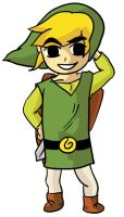 Wind Waker Link Tunic Pose by TornIntegral