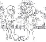 A Day at the Park - lineart by Cid-Vicious