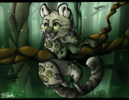 Clouded Leopard Kitten by LemonadeLesley