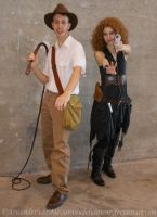 River Song cosplay - Two archaeologists unite! by ArwendeLuhtiene