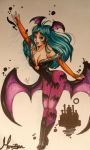 Morrigan rock fan traditional art by JamilSC11