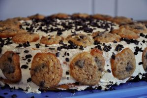 Chocolate Chip Cookie Dough Cake by Disneys-Buffy