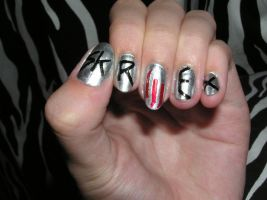 SKRILLEX nails by Insanity-Cake
