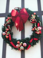 Christmas Wreath-2 by Rubyfire14-Stock
