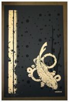 Printed Golden Koi Poster by Steelo23