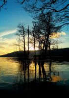 Reflections on Loch Lomond by Crannogphotographic
