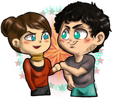 Hannibal chibis - Margot and Will by FuriarossaAndMimma