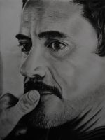 Robert Downey jr, charcoal 2 by Arc-Su-Namun