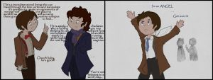 The Doctor and Sherlock meet Castiel... by MalisVitterfolk