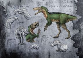 Eotyrannus sketches by c-compiler