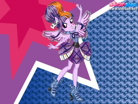 Rocking Girl Twilight Sparkle by user15432