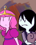 Young Bubble Gum and Young Marceline by PandaTheBox