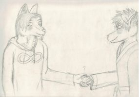 Gift Art: Oliver and His Mate by SomeOddGuy