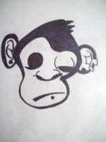 monkey tattoo design by NatchezArtist