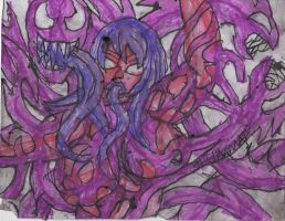 My OC Symbiote, Lust just doing something crazy by ChahlesXavier
