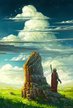 in the shadow of ancient stone by KalaNemi