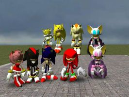 sonic heroes models by GlitchyProductions