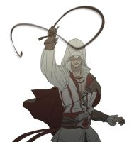 Whipping Ezio by doubleleaf