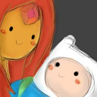 Finn and Flame princess by infernal1021