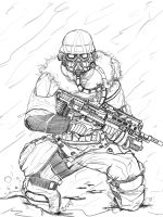Helghast Pic Lineart by Lordmarshal