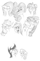 Random Expressions of a Pony 3 by Smashedatoms