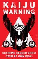 Kaiju Warning Sign by Tracer67
