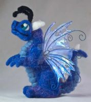 Felted Baby Fairy Dragon Plush by The-GoblinQueen
