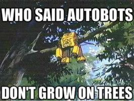 Bumblebee stuck in a tree by Blurr19