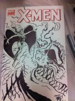 X-Men sketch cover by KaijuSamurai