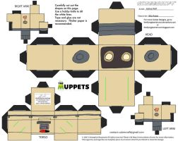 Muppets37: '80s Robot Cubee by TheFlyingDachshund