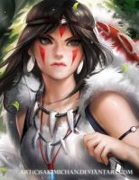 Mononoke years later by sakimichan