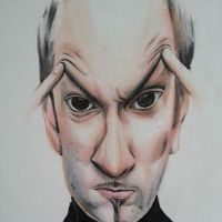 Caricature of Derren Brown by bakaneko-kun